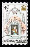 Zegarowy wierza, Astronomiczny zegarowy wierza w Praga seria około 197, Zdjęcia Royalty Free