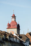 Zegarowy wierza, część urząd miasta w lucernie Fotografia Stock