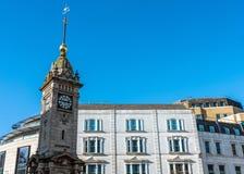 Zegarowy wierza dzwonił Jubileuszowy Zegarowy wierza wolno stojący w centrum Brighton budował w 1888 dla królowej Wiktoria Złoty obraz stock