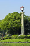 Zegarowy Wierza i mała wyspa Obrazy Stock