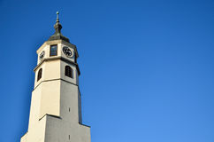 Zegarowy wierza I niebieskie niebo Fotografia Stock