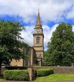 Zegarowy wierza, Lochwinnoch Farny kościół, Szkocja zdjęcia stock