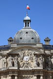 Zegarowy wierza Luxemburg pałac w Paryż Obraz Stock