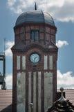 Zegarowy wierza ratuszu historyczna kopalnia węgla Bielszowice Zdjęcia Stock