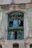 Zegarowy wierza Sighisoara kasztel, Transylvania Zdjęcia Stock