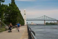 Zegarowy wierza Stary port Montreal Kanada Fotografia Stock