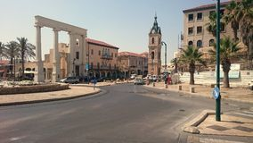Zegarowy wierza Tel Aviv, Izrael w Starym Jaffa, - Zdjęcia Stock