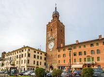 Zegarowy wierza w Castelfranco Veneto Obrazy Stock