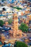 Zegarowy wierza w Jodhpur obraz royalty free