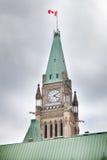 Zegarowy wierza w parlamentu budynku, pokoju wierza, Centre blok, Fotografia Stock