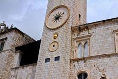 Zegarowy wierza w starym Dubrovnik obraz royalty free