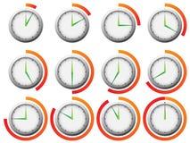 zegarowy zegar Obrazy Royalty Free
