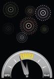 zegarowych fajerwerki w nowym roku Obrazy Stock