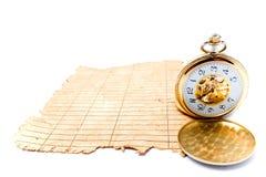 zegaru papier zdruzgotany stary Fotografia Royalty Free