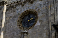 Zegary na St Stephan katedrze Zdjęcie Stock