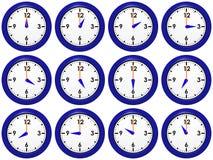 zegary ustawiający Zdjęcie Stock