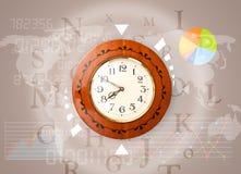 Zegary z światowym czasem i finanse biznesu pojęciem Obraz Stock