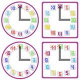 Zegary z tarczą w mieszkanie stylu Obrazy Stock