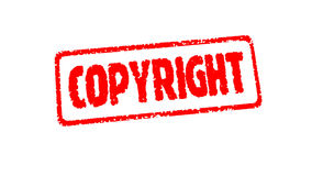 Zegel COPYRIGT op het wit met alpha- chanel stock videobeelden