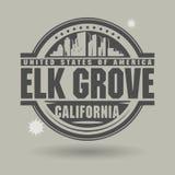 Zegel of etiket met binnen het Bosje van tekstelanden, Californië royalty-vrije illustratie