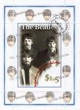 Zegel met Beatles stock afbeelding