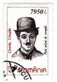 Zegel met Charles Chaplin Stock Afbeeldingen
