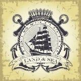 Zegel met een zeevaartthema Royalty-vrije Stock Afbeelding