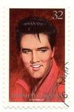 Zegel met Elvis Presley Stock Fotografie