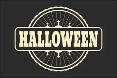 Zegel met Halloween-tekst Royalty-vrije Stock Foto's