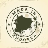 Zegel met kaart van Andorra royalty-vrije illustratie