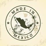 Zegel met kaart van Mexico stock illustratie
