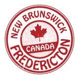 Zegel met naam van Canada, New Brunswick en Fredericton stock illustratie