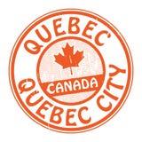 Zegel met naam van Canada, Quebec en de Stad van Quebec royalty-vrije illustratie