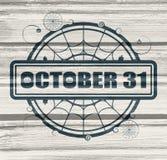 Zegel met 31 Oktober tekst Stock Afbeeldingen