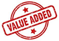 Zegel op de toegevoegde waarde vector illustratie