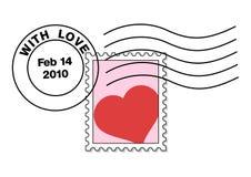 Zegel op een valentijnskaartbrief Vector Illustratie