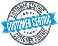 zegel van klanten centric ronde grunge stock illustratie
