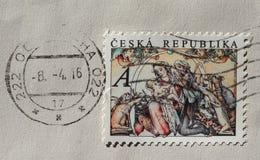 Zegel van Tsjechische Republiek Royalty-vrije Stock Afbeeldingen