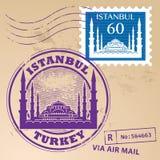 Zegel vastgesteld Istanboel vector illustratie