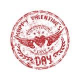 Zegel voor de Dag van de Valentijnskaart royalty-vrije illustratie