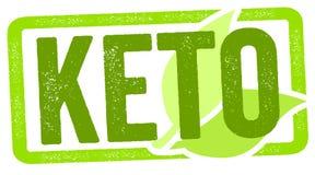 Zegelillustratie met keto dieet stock illustratie