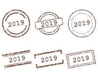 2019 zegels royalty-vrije illustratie