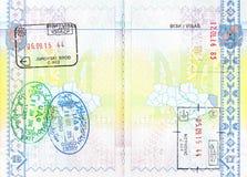 Zegels van Kroatië, Emiraten en Hongarije stock afbeeldingen