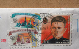 Zegels van Rusland Royalty-vrije Stock Foto's