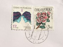 Zegels van Tsjechische Republiek Royalty-vrije Stock Fotografie