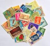 Zegels van verschillende landen Stock Afbeeldingen