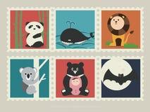 Zegels van zoogdierdier 1 Vector Illustratie
