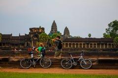 Zegt Angkor wat bayon banteay srie bakong bapoun Chau Tevoda-de Tempel siem het koninkrijk van Kambodja van wonder oogst Royalty-vrije Stock Afbeelding