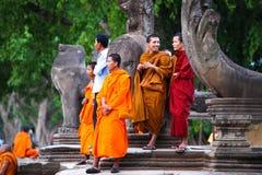 Zegt Angkor wat bayon banteay srie bakong bapoun Chau Tevoda-de Tempel siem het koninkrijk van Kambodja van wonder oogst Stock Foto