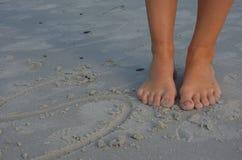 Zehen auf Sand Lizenzfreie Stockfotografie